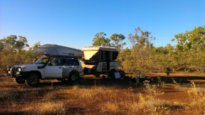 Camp at roadside 10km north of Katherine