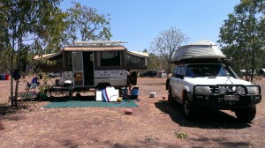 Camp in Coolalinga Caravan Park