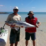 Al and Ken with the 140cm Spanish Mackerel