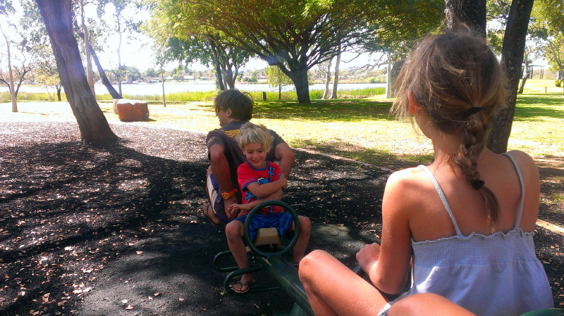 Family fun at the park